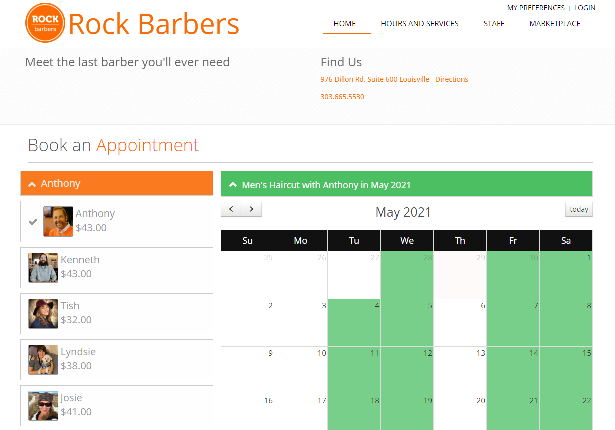 SchedMark Software - Client appointment booking