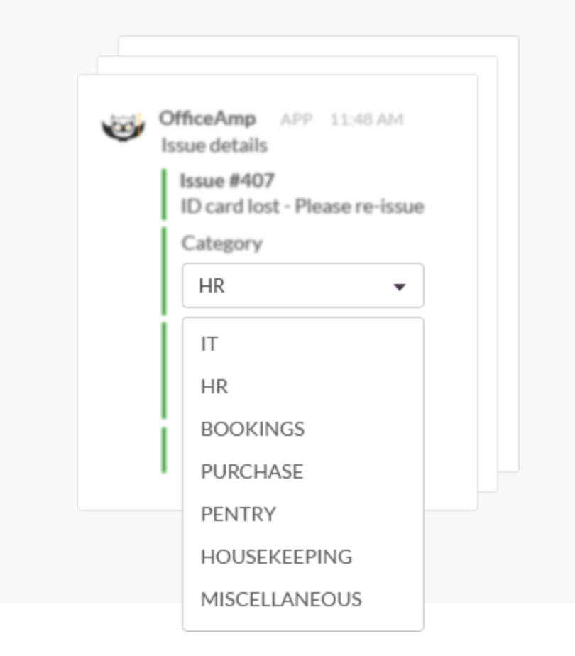 OfficeAmp categorizes and prioritizes an issue, then sends it automatically to the right person to resolve it