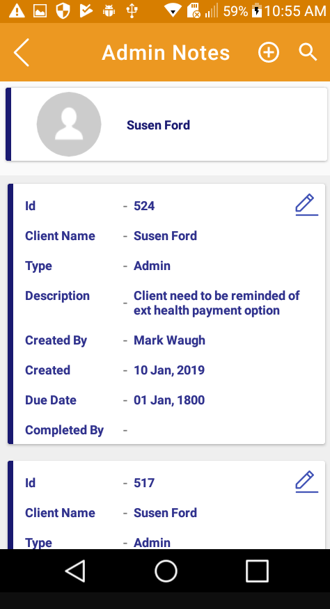 Skedulex Case Management Software admin notes