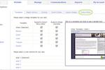 Main Street Sites screenshot: Users can choose templates and add custom menus
