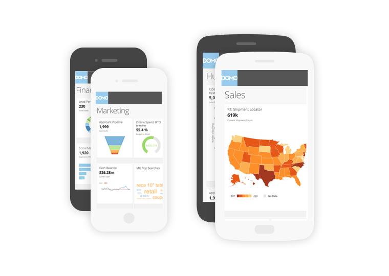 Domo screenshot: Sales screen via mobile