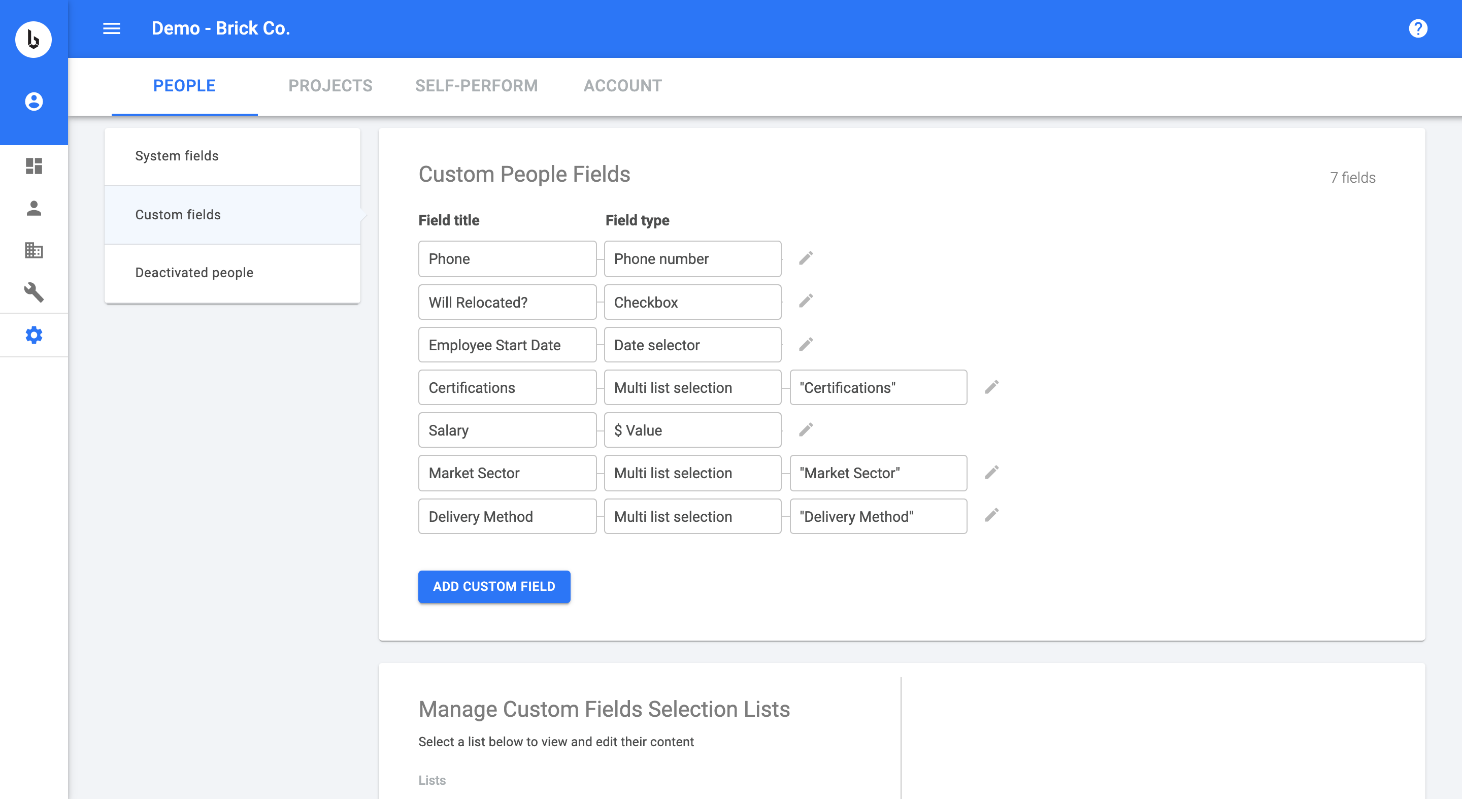 Custom permissions: Establish controlled transparency with out-of-the-box or custom permission groups.