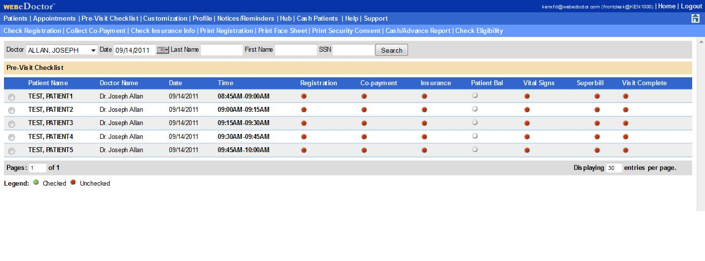 WEBeDoctor Software - WEBeDoctor's Pre-Visit Checklist