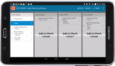 Toast POS allows customers to split checks & menu items