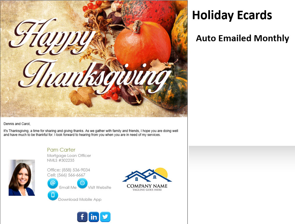 Monthly Holiday Ecards