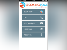 The Booking Tool Software - The Booking Tool navigation menu