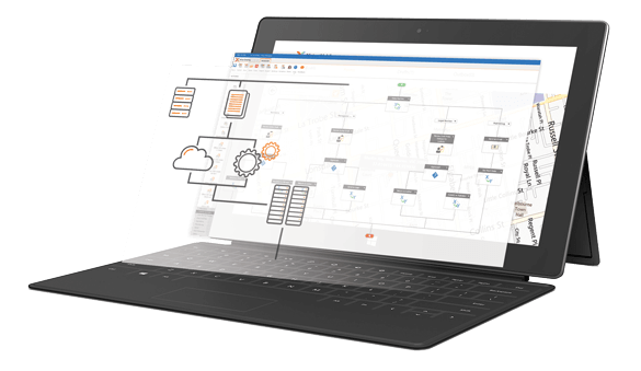 Nintex Process Platform screenshot: A broad selection of connectors can be dropped in to support the communication between a host of popular third-party SaaS-based applications