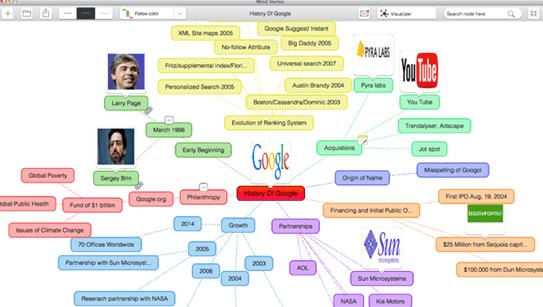 Mind Vector Software - Central node map