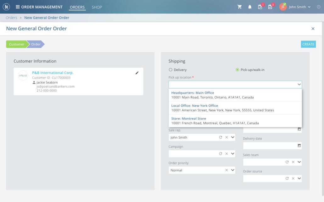 Kloudville Software - Create new order %>