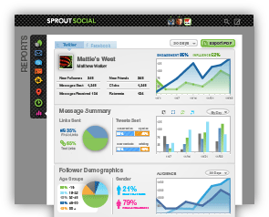 Sprout Social screenshot: social media analytics