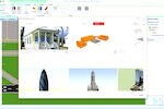 Simio screenshot: Import images and 3D symbols in a variety of formats, and from the Google 3D warehouse