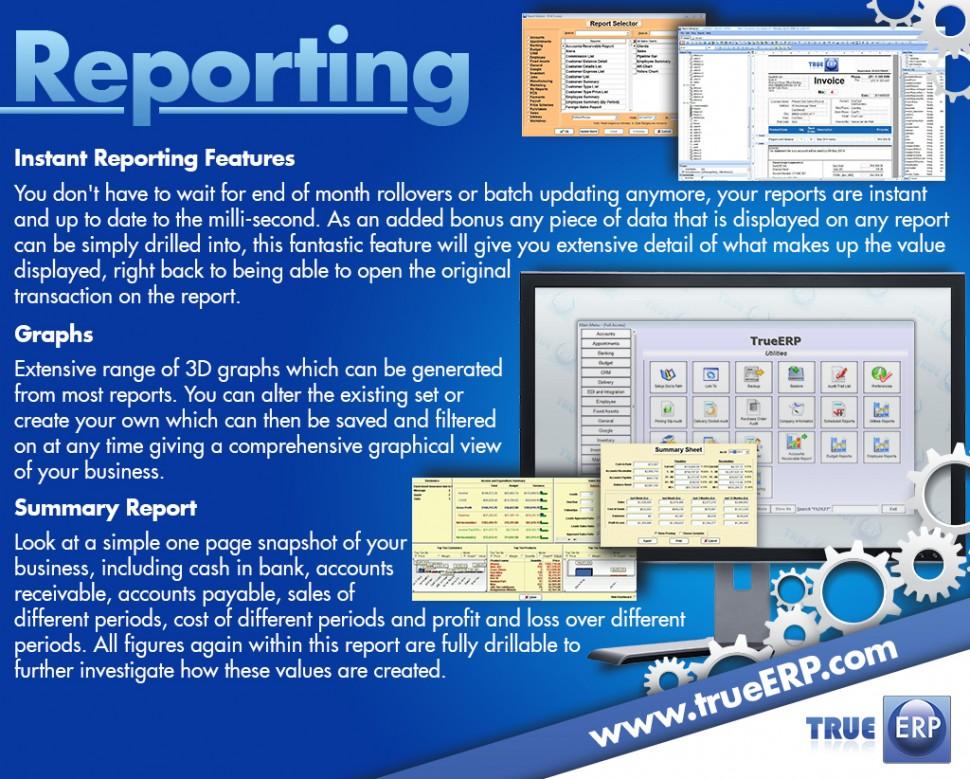 TrueERP Software - Reporting