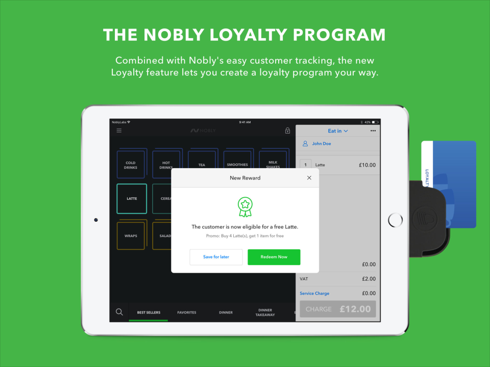 Reward loyal customers with the Nobly rewards scheme feature