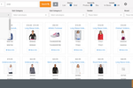 MicroBiz Cloud POS screenshot: Advanced Product Search - Allows you to search by item name, SKU, style, UPC or Alt ID.  Results can be displayed in table format or as product tiles.  Advanced filters allow you to view results by category, vendors, brand, color, size or other attribute.
