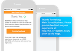 Demandforce screenshot: Expand your business's online presence by sending automatic review requests to your clients after their appointments. Review requests can be sent through email or text.