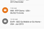 Captura de pantalla de Marketo Engage: Marketo Moments app - scheduled emails