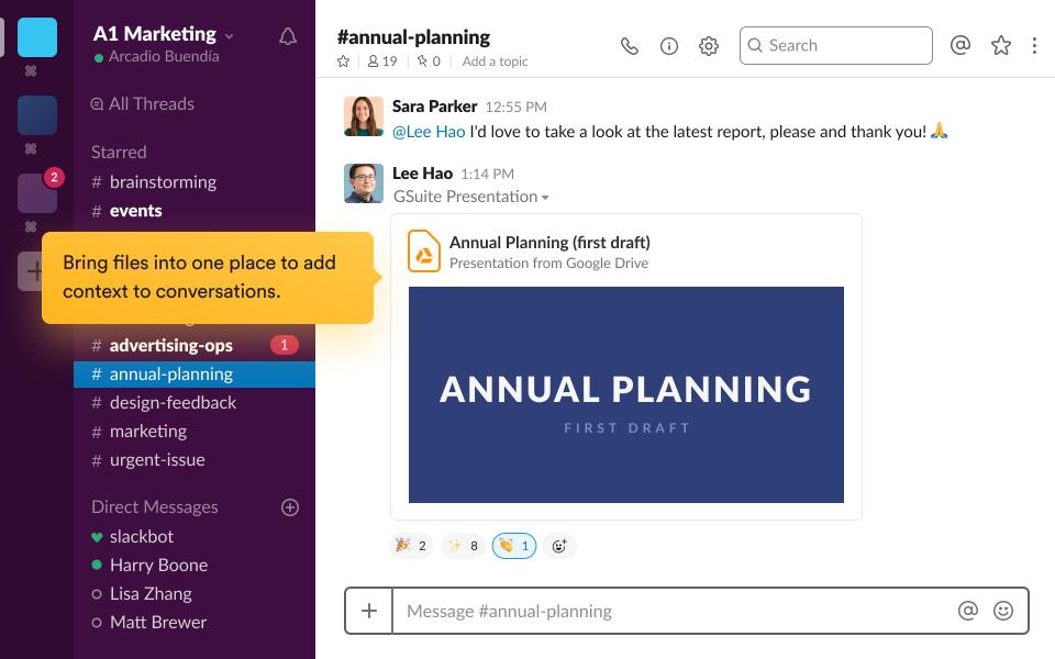Slack Software - Slack Conversations