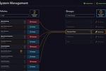 Capture d'écran pour Automox : Automox system management page
