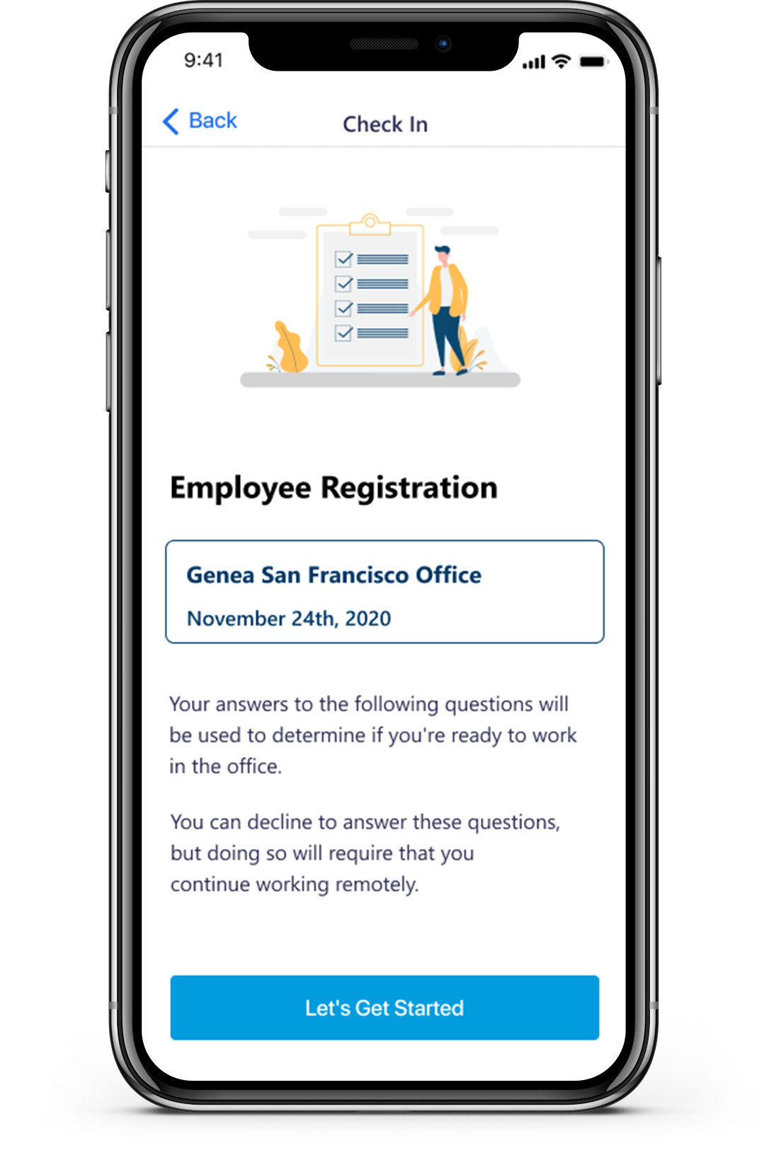 Genea's Safe Workplace feature offers capacity planning, contact tracing, temperature checks and more. These powerful features allow for the safe, responsible return of employees to the workplace.