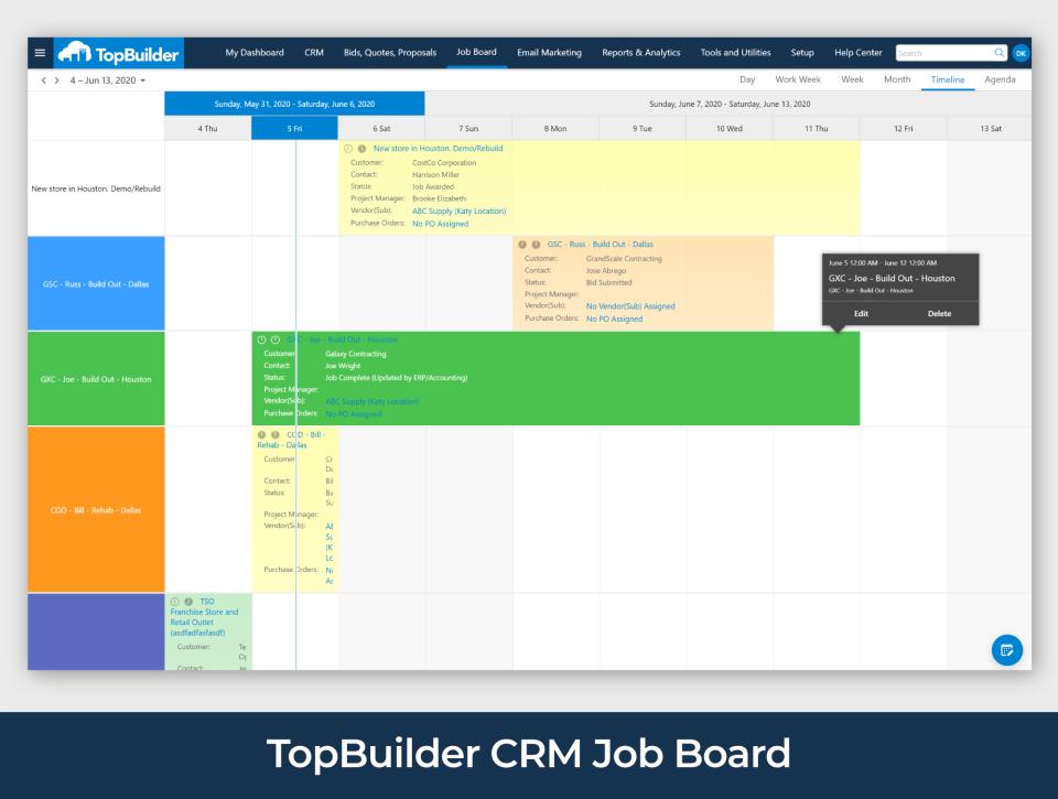 TopBuilder jobs calendar