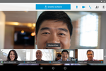 Cisco Webex screenshot: Video conferencing is supported