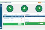 eSCRIBE screenshot: eSCRIBE board manager dashboard