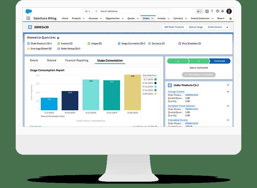 Salesforce CPQ usage-based billing