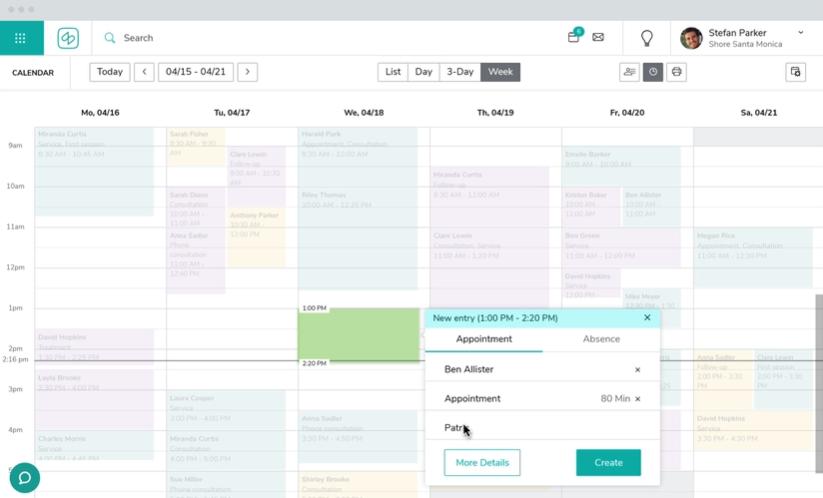 Shore.com Software - Shore Online Booking calendar
