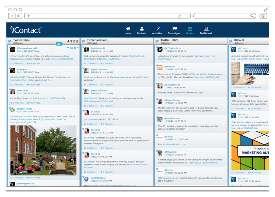 iContact Software - Social Media Management