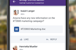 Yammer screenshot: Collaboration on-the-go