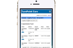TurnPoint Care screenshot: Access information & manage activity from mobile devices