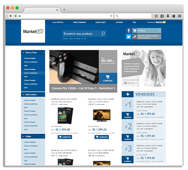 MarketUP  eCommerce website