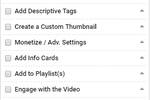 TubeBuddy Screenshot: TubeBuddy checklist