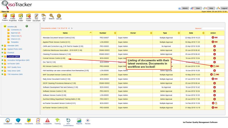 isoTracker Document Management Logiciel - 1