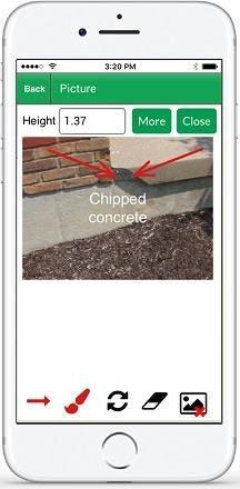 Palm-Tech Home Inspection Software Software - Palm-Tech home inspection photo upload screenshot