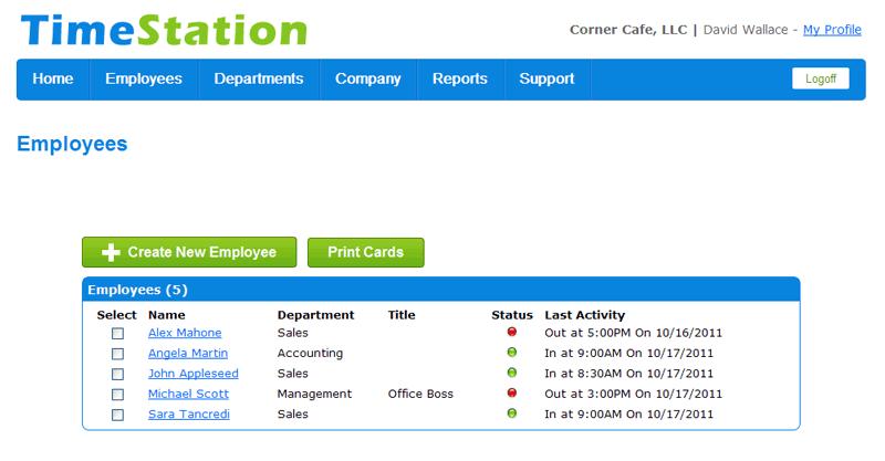 TimeStation add employee data