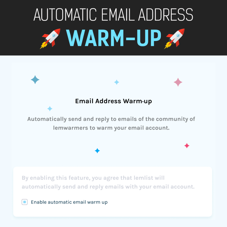 lemlist Software - Automatic email warm up