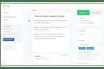 Capture d'écran pour elevio : Easy content creation