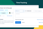 Wrike screenshot: Time tracking
