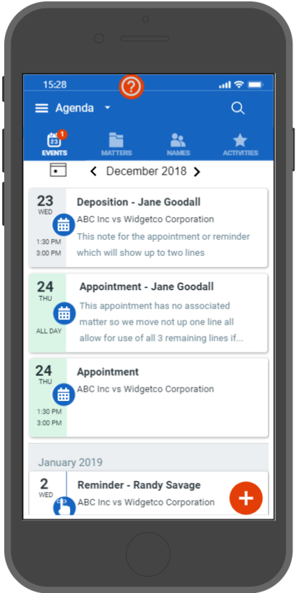 AbacusLaw Software - Calendaring