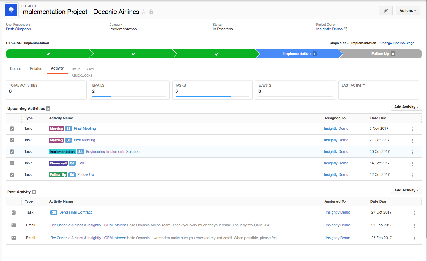 Use pipelines or milestones to track project deliverables and progress