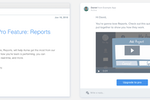 Intercom Screenshot: Announce new features and products with targeted emails to users