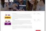 Event Essentials screenshot: Ticket Sales pages that match your Website