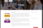 Captura de pantalla de Event Essentials: Ticket Sales pages that match your Website