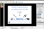 ADSTRA Dental Software screenshot: Attach notes to side-by-side dental x-rays using annotation tools included within ADSTRA Imaging