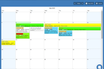 Schedule it Screenshot: 1 of the 8 different views. Month view.