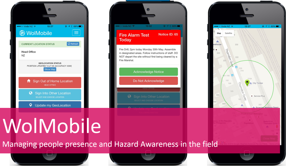 WolMobile is the evacuation management tool for mobile and tablet devices used by safety marshals, or fire or floor wardens in a location
