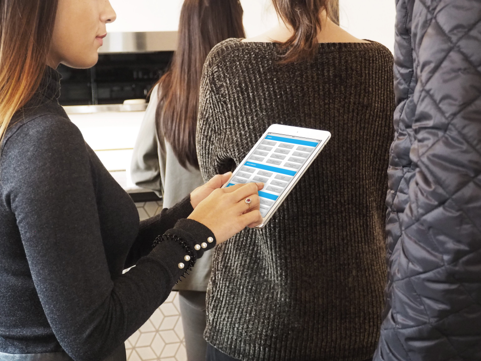 Koomi can be taken in line-ups to speed up the ordering process & can work offline to minimize interruptions