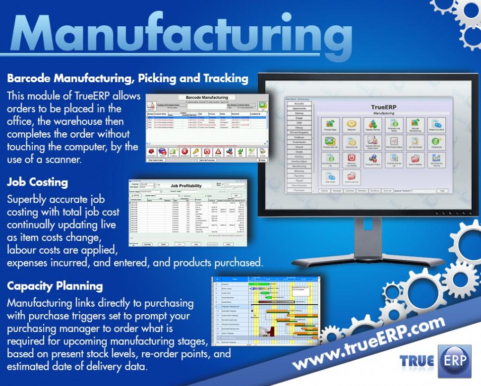 TrueERP Software - Manufacturing