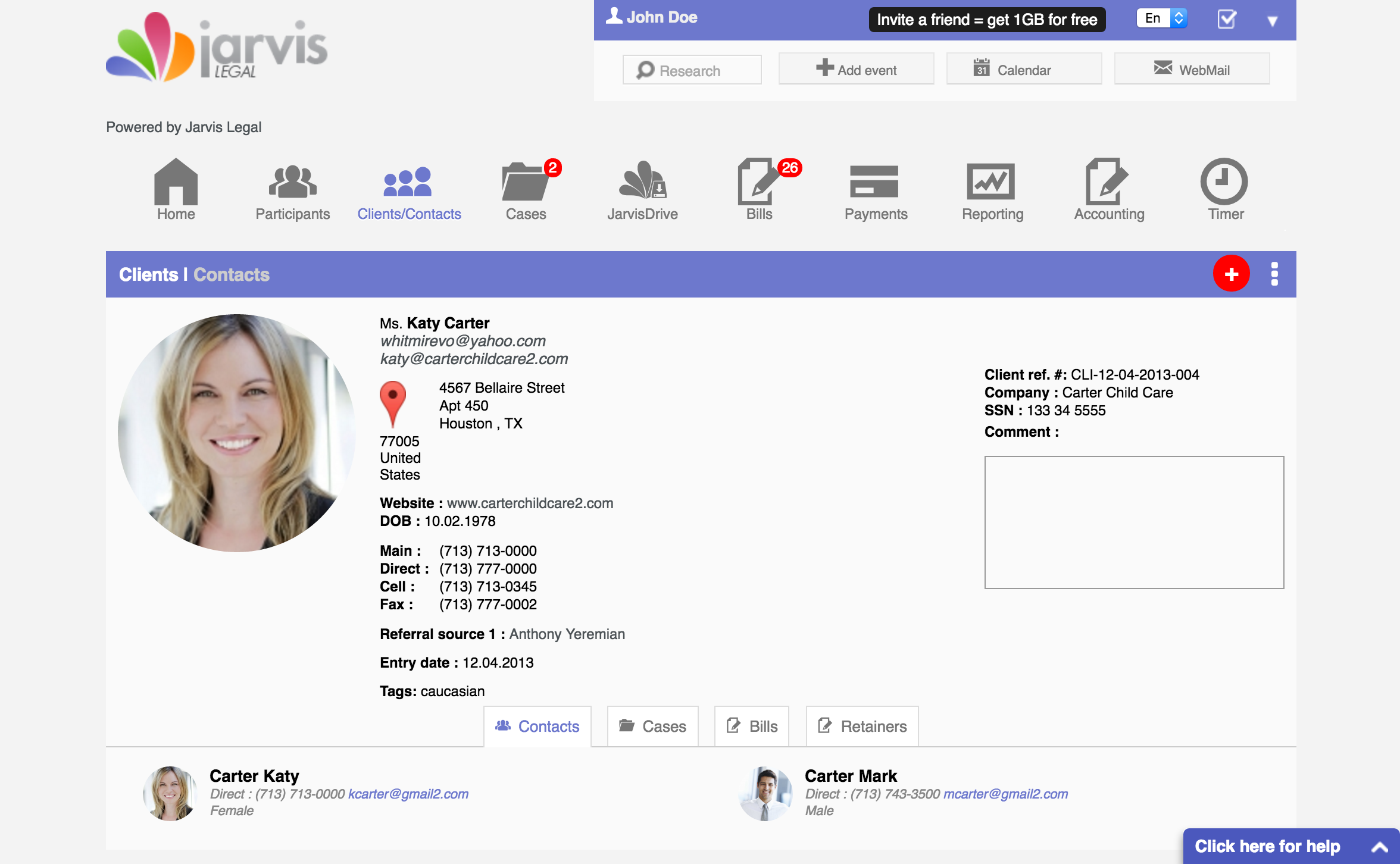 Jarvis Legal Software - Clients
